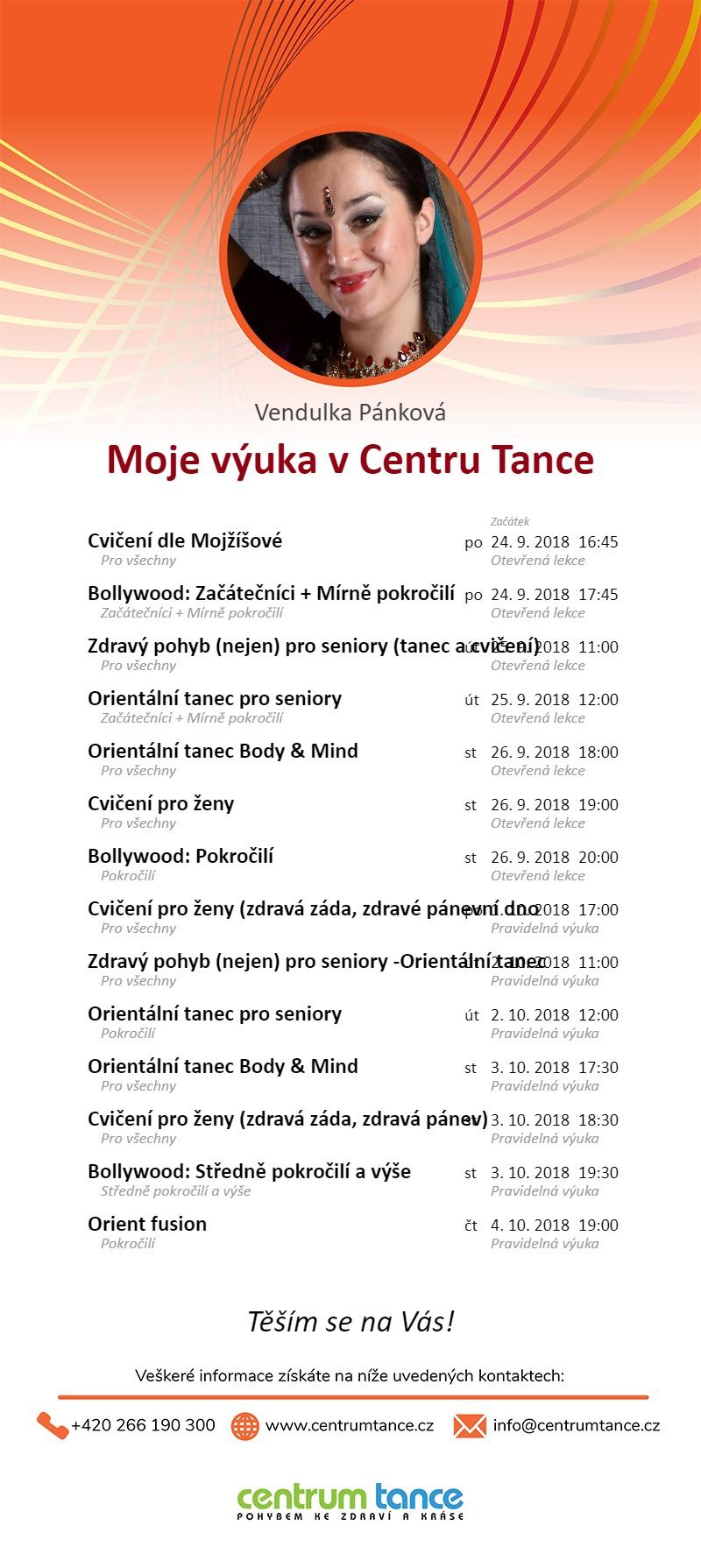 Vendulka - kurzy v Centru tance - jaro 2018